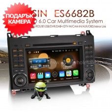 "Erisin ES6682B 7"" Android 6.0 за Mercedes A/B Class, Sprinter, Vito, Crafter"